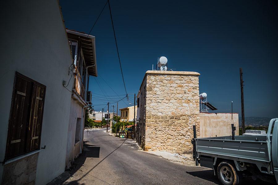 Cypr, widok z samochodu – od strony pasażera